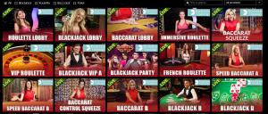 Vegas Paradise live casino