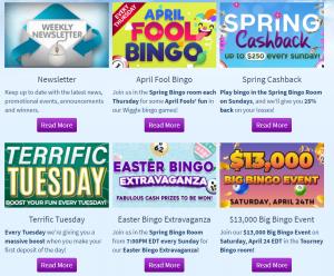 Bingo Spirit promotions