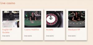 Extra Vegas live casino