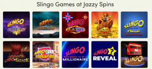 Jazzy Spins game selection