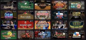21 casino live casino