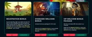 Vesper online casino bonus