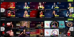 1x Bet live casino