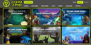 Cobra Spins online casino bonus