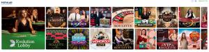 20 Bet live casino