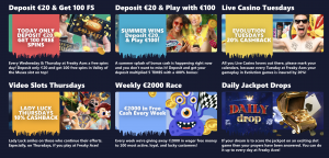 Freaky Aces online casino bonus