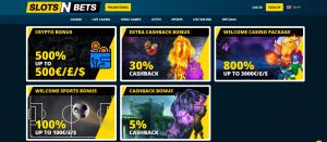 Slots N Bets online casino bonus